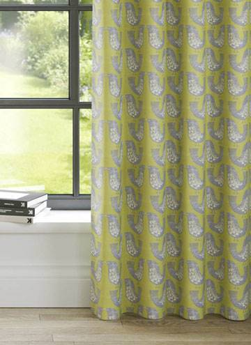 Curtains Scandi Birds Kiwi